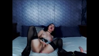 And stiptease seductive with young toying maid petite orgasm strong toys heels