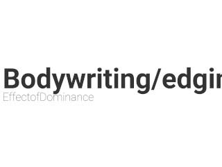 Teaser - bodywriting and edging