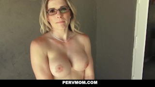 PervMom - Inspecting My Pervert step Moms Boobs Step blowjob