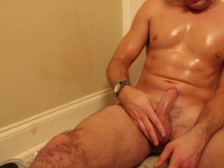 HQ Oiled Jock Jacks Before Shower