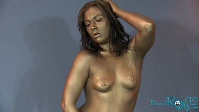 Ageless beauty freeze fetish human statue transformation - 3 part 1