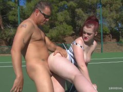 800DAD - PAWG Jaye Rose Slam Fucked on Tennis Court