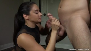 Sheena Ryder Throated and Gagged by Fucking Cock