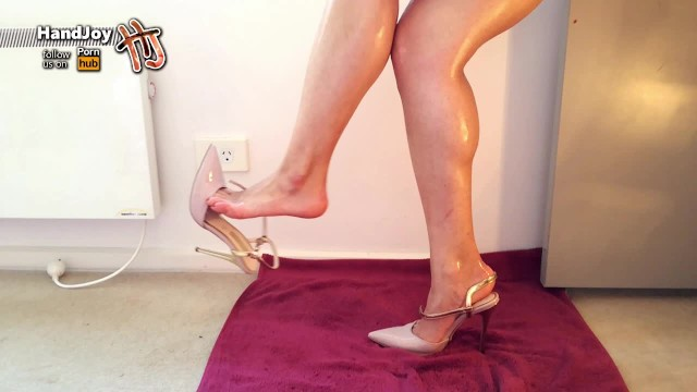 Dangling shoes fetish Handjoy goddess hira dangling her high heels