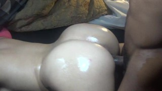 Big butt wife get's pounded while husband gone & get's cumshot on ass!  oiled ass doggy style big ass point of view bubble booty fucked hard big cock bbc big dick butt rough slut cum shot big butt bouncy ass back shots
