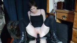 Big Black Boots Mirror Riding