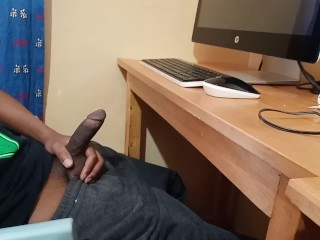 Spy Camera Films Straight Brother Jerking Off To Porn