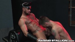 "RagingStallion I Said ""Suck That Dick & Spit On It"" Through Gloryhole"