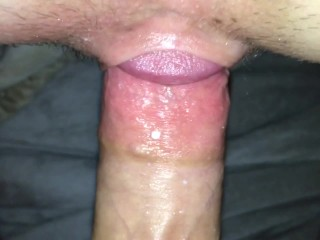 Close Up Creampie, Pushing Cum Out