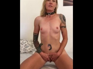 Sexy gloryhole blonde strips