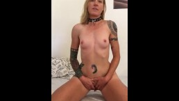 Horny Girl Riding Dildo Can't Wait to get Fucked