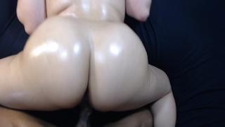 Fucking my boys slut little sister doggy style, cumshot on bubble butt!
