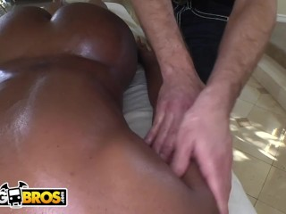 BANGBROS - Ebony MILF Nyomi Banxxx Gets Her Black Big Tits Massaged