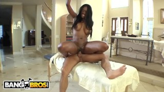Banxxx milf bangbros nyomi big black massaged ebony gets her tits black big