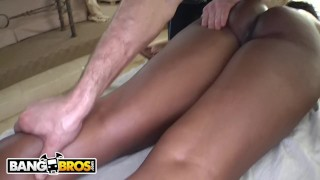 BANGBROS - Ebony MILF Nyomi Banxxx Gets Her Black Big Tits Massaged Tits reverse