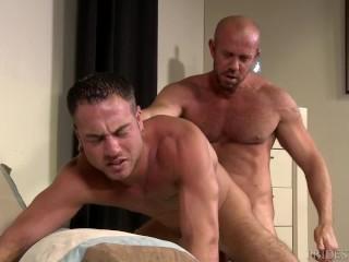 Bear Daddy Fucks Boyfriend's Wet Hole