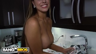 BANGBROS - Big Booty Latina Maid Sofia Cleaning My Apartment In Colombia! Petite dildo