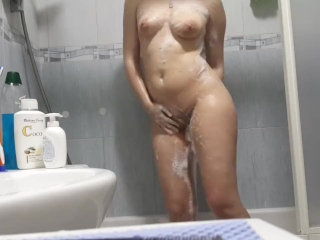 Sweet soapy shower with a redhead