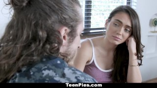 Creampied teenpies gets by girlfriend military boyfriend reality internal