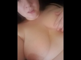 Big Titty Girl Makes Herself Squirt