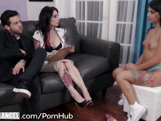 Horny Little Babysitter Auditions for Joanna Angel and Punk Boyfriend!