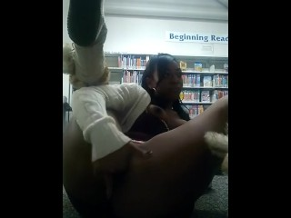Sexy Black Girl Masturbates And Cums In The Library Part 1
