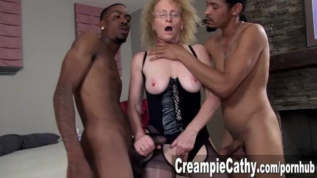 Cathys craving interracial sex Massive bbc creampie for cougar