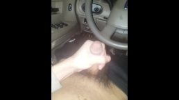 Jacking off in my car