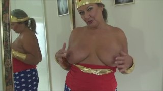 Mature Slut As Wonder Women