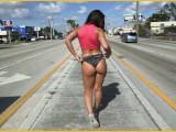 BANGBROS - Abella Danger Twerking Her Big Ass For Miami Traffic In Public!