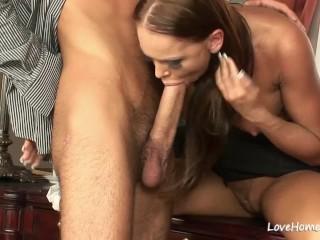 Horny diva enjoys anal fucking and cock sucking