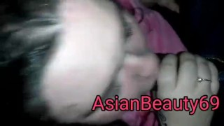 Learning to give head : lesson 1  interracial gagging cum facial bbw teen cum in mouth asian teen face fucking bbc teen choking blowjob