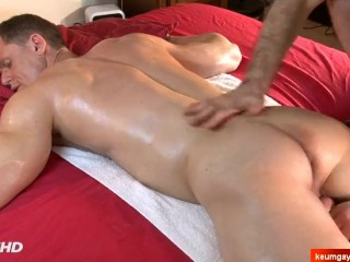 Stefen's big cock massage ! (handsome neighbour seduced for gay porn)