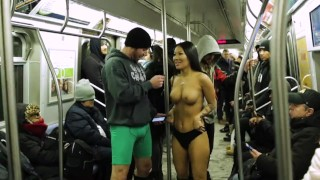 No Pants Subway Ride Challenge with Asa Akira and Subway Creatures