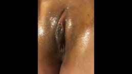 Pussy covered in oil