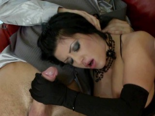2 Super Cocks For A Young Girl With Big Natural Tits With Double Penetration !!!