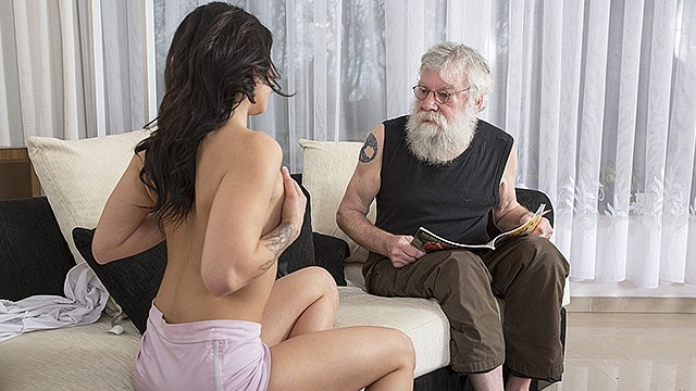 Old Young Porn Sexy Teen Fucked By Old Man On The Couch She Rides His Cock  Thumbzilla-1289