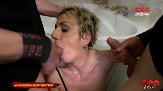 Mature German Mother loves younger cock and Piss GGGDevot