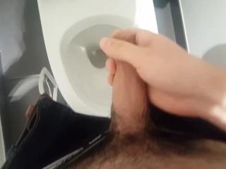 Boring job, he's masturbating at work
