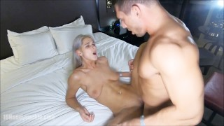 male stripper cums on woman