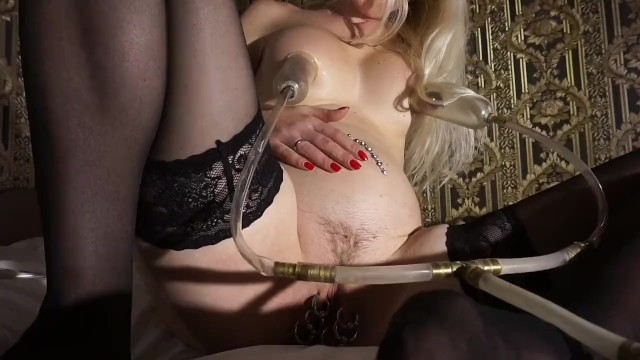Cunt spanking vides - Air belly inflation vacuum nipples