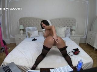 Anisyia Jasmin huge ass oily ANAL stretch tiny asshole abuse