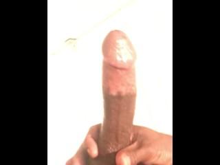 Shower cock play & cum