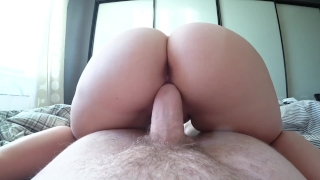 A young girl fucks through Victoria Secret panties Big dicked