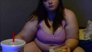 Bbw Yoshiko Fat girl eats burgers getting fatter, jiggling and shaking  japanese shake kink butt big boobs fat ass big titties weight gain ass jiggle bbw huge chubby