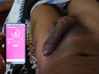 Remote Controlled Butt Plug Vibrating In My Asshole