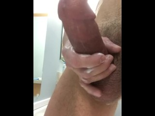 Double Cum from a Thick Cock