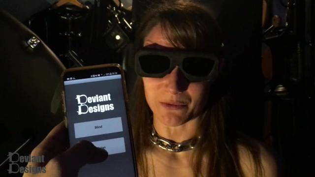 Design a bdsm dungeon Remote control blindfold