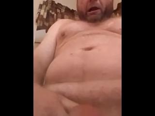 Massaging my P-spot milking my cum while spun tf off...