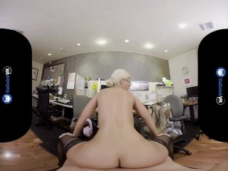 BaDoinkVR.com Busty Spex Office Slut Bridgette B Rides Your Cock